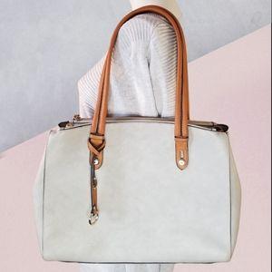 Simply Noelle Grey Vegan Leather Tote Bag